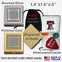 Designer Faces Pill Box - Gold or Silver