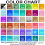 Refer to this color chart for those listed.