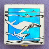 Whale Pill Box - Small, Silver