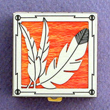 Feather Pill Box