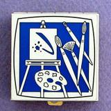 Artist's Palette Pill Box