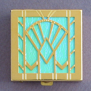 Art Deco Fan Pill Box