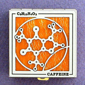 Caffeine Molecule Pill Box