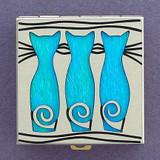 Triple Kitty Pill Box