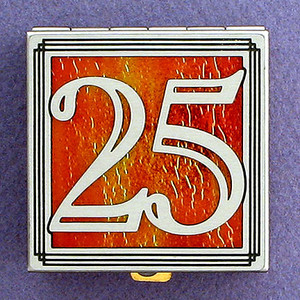 Number 25 Pill Boxes