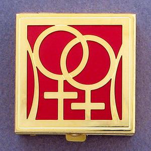 Lesbian Woman Pill Box