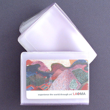 Plastic Wallet Insert Replacement Credit Card Windows Wide Billfold