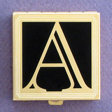 Monogram Letter A Pill Box