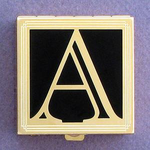 Monogram Letter A Pill Box