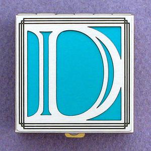 Monogrammed D Pill Box