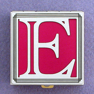 Monogram E Pill Box