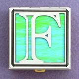 Monogram Initial F Pill Box