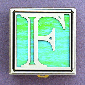 Monogram Initial F Pill Box