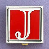 Monogram Letter J Pill Box
