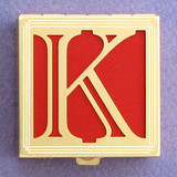 Monogram K Pill Box