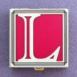 Monogram L Pill Box