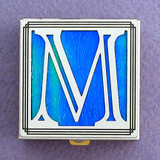 Monogram Letter M Pill Box