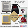 Cool Pill Cases - Etched Metal Monogram Letter N Design