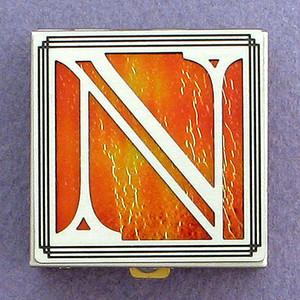 Monogram Letter N Pill Box