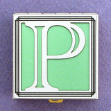 Monogram Letter P Pill Box