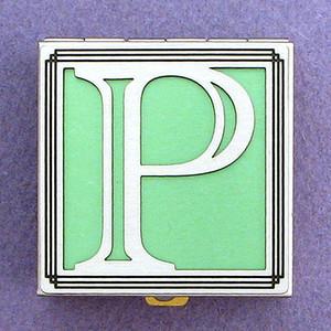 Monogram Letter P Pill Box