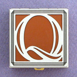 Monogram Letter Q Pill Box