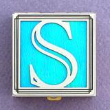 Monogrammed S Pill Box