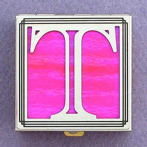Monogram Letter T Pill Box