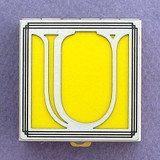 Monogram Letter U Pill Box