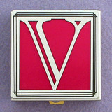 Monogram V Pill Box