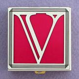 Monogram V Pill Box