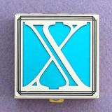 Monogram X Pill Box