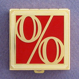 Percentage Symbol Pill Box