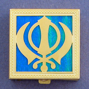 Sikh Khanda Pill Box