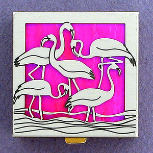 Pink Flamingo Pill Box