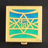 Jewish Star of David Pill Box