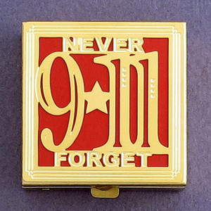 """9/11 """"Never Forget"""" NYC Pill Box"""