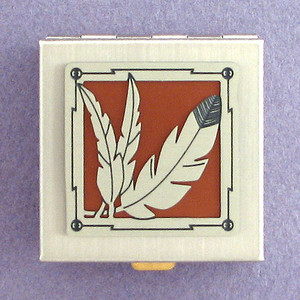 Eagle Feather Tiny Pill Holder
