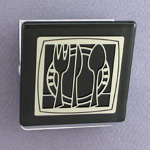 Fork, Knife & Spoon Kitchen Magnet Clip