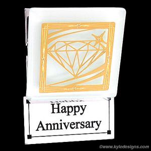 Diamond Anniversary Clip Magnets