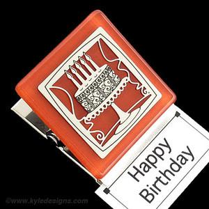 Birthday Cake Magnetic Clip