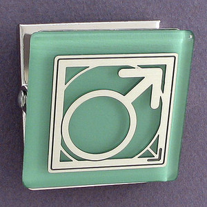 Male Gender Symbol Magnet Clip