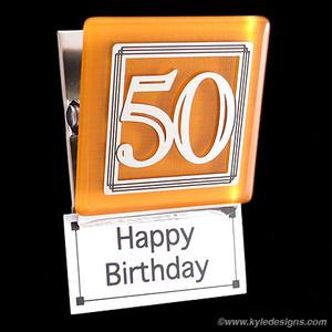 50th Refrigerator Magnet Clip