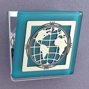 Earth Refrigerator Magnet Clips
