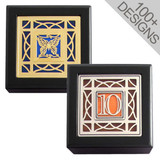 Tiny Black Memory Boxes with Artistic Designs - Glass & Metal Inlays