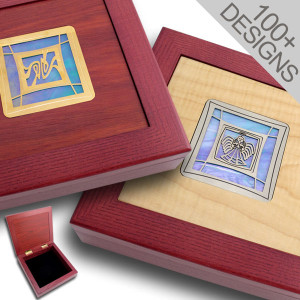 Custom Jewelry Boxes - Exotic Wood & Glass