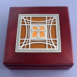 Christian Jewelery Box with Cross
