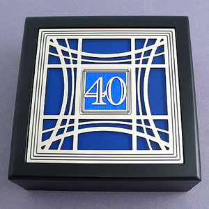 40th Birthday / Anniversary Jewelry Box