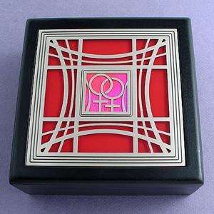 Lesbian Pride Jewelry Box