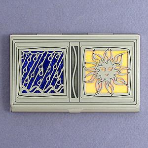 Rain or Shine Business Card Holder Holder
